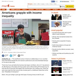 Americans grapple with income inequality