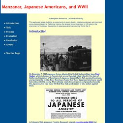 Manzanar, Japanese Americans, and WWII: Introduction