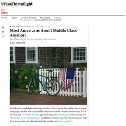 Most Americans Aren't Middle Class Anymore