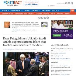 U.S. ally Saudi Arabia exports extreme Islam devil