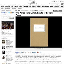 The Americans List: A Salute to Robert Frank