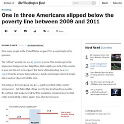 One in three Americans slipped below the poverty line between 2009 and 2011