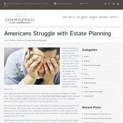 Americans Struggle with Estate Planning - Los Angeles Lawyer and Law Firm