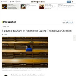 Big Drop in Share of Americans Calling Themselves Christian