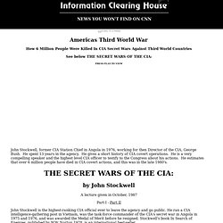 Americas Third World War: How 6 million People Were killed in CIA secret wars against third world countries