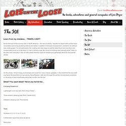 Kit List for the Americas Motorcycle Journey - Lois Pryce