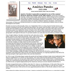 Américo Paredes: Biography