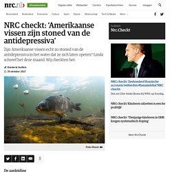 checkt: 'Amerikaanse vissen zijn stoned van de antidepressiva'