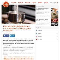 legt Amerikaanse maten uit: omrekenen van cups, pints en ounces