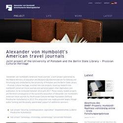 PROJECT - Alexander von Humboldts Amerikanische Reisetagebücher