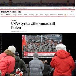 Amerikansk Nato-styrka välkomnas i Polen