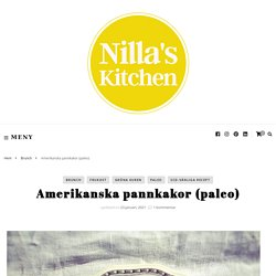 Amerikanska pannkakor (paleo)