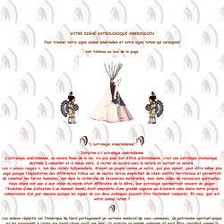 horoscope amerindien, trouver votre signe, Initiation à l'astrologie amérindienne