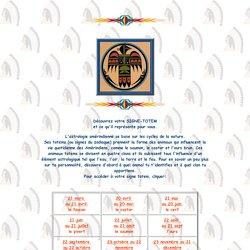 Signe totem amerindien horoscope animaux et oiseau