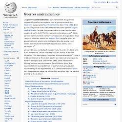Guerres amérindiennes