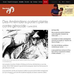 Des Amérindiens portent plainte contre génocide