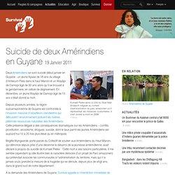 Suicide de deux Amérindiens en Guyane française