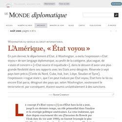 L'Amérique, « État voyou », par Noam Chomsky (Le Monde diplomatique, août 2000)