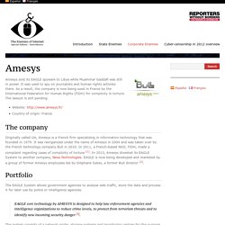 Amesys - The Enemies of Internet