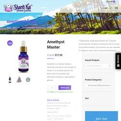 Amethyst Essence - Shanti Kai Gemstone and Mineral Essences