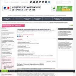 Déchets d'éléments d'ameublement (DEA) - Ministère de l'Environnement, de l'Energie et de la Mer