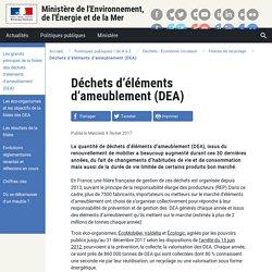Déchets d'éléments d'ameublement (DEA) - 08/02/17