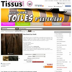 Skai Simili Cuir Vieilli - Tissus Ameublement - www quartierdestissus com - vente de tissus au mètre