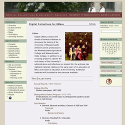 UMarmot » Digital Collections for UMass