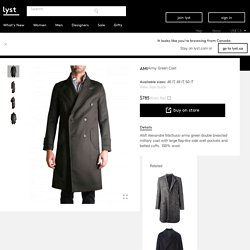 Ami Army Green Coat in Green for Men (army)