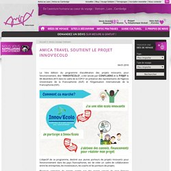 Amica Travel soutient le projet INNOV'ECOLO