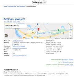 Amidon Jewelers, New Hampshire (+1 603-298-7600)