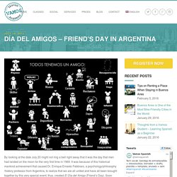 Día del Amigos - Friend's Day in Argentina - Vamos Spanish School