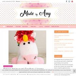 Patron Amigurumi Crochet : Licorne arc-en-ciel