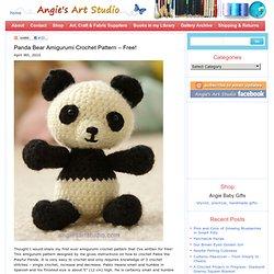 Panda Bear Amigurumi Crochet Pattern – Free!