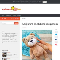 plush bear free pattern