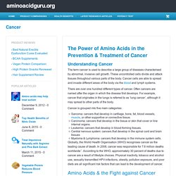 Amino acids as an EFFECTIVE cancer treatmentaminoacidguru.org