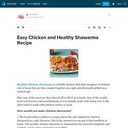 Easy Chicken and Healthy Shawarma Recipe: amirfalafel — LiveJournal