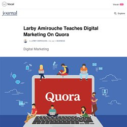 Larby Amirouche Teaches Digital Marketing On Quora