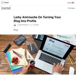 Larby Amirouche On Turning Your Blog Into Profits