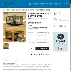 Amish Wood Dog Crate Cover