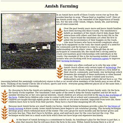 a comparison of chasidim and old order amish For these are the old order amish and mennonites, also known as the plain people amish religion and religious beliefs in comparison to our fast-paced society, the simpler, family-centered way of life holds a special fascination.