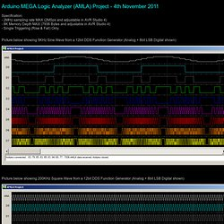 AMLA - Arduino MEGA Logic Analyzer