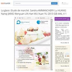 La glace. Etude de marché. Sandra AMMANCHERY Lu HUANG Nanqi JIANG Wenyuan LIN Han WU Xuan YU 2013 GB-IAAL PDF Free Download