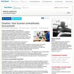 23.7. Pekka Lampelto: raportti ammatillisen koulutuksen tehokkuudesta ja Visio Suomen ammatilliselle koulutukselle