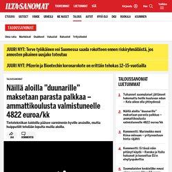 """Näillä aloilla """"duunarille"""" maksetaan parasta palkkaa – ammattikoulusta valmistuneelle 4822 euroa/kk - Taloussanomat"""