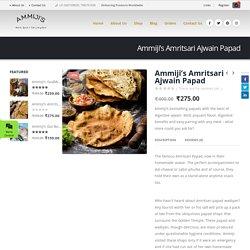 Ammiji's Amritsari Ajwain Papad – Ammijis
