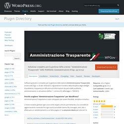 Amministrazione Trasparente — WordPress Plugins