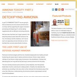 AMMONIA TOXICITY: PART 2 - NutriStart