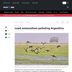 PHYS_ORG 15/04/19 Lead ammunition polluting Argentina