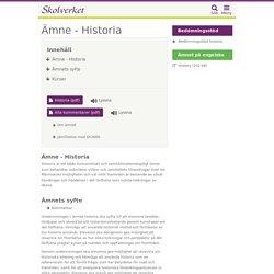 Ämne - Historia (Gymnasieskolan)